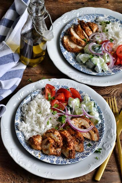 Grecki kurczak z tzatziki