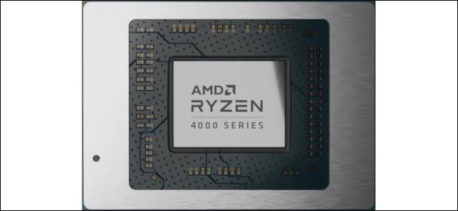 معالج مكتوب عليه الكلمات AMD Ryzen 4000 Series.