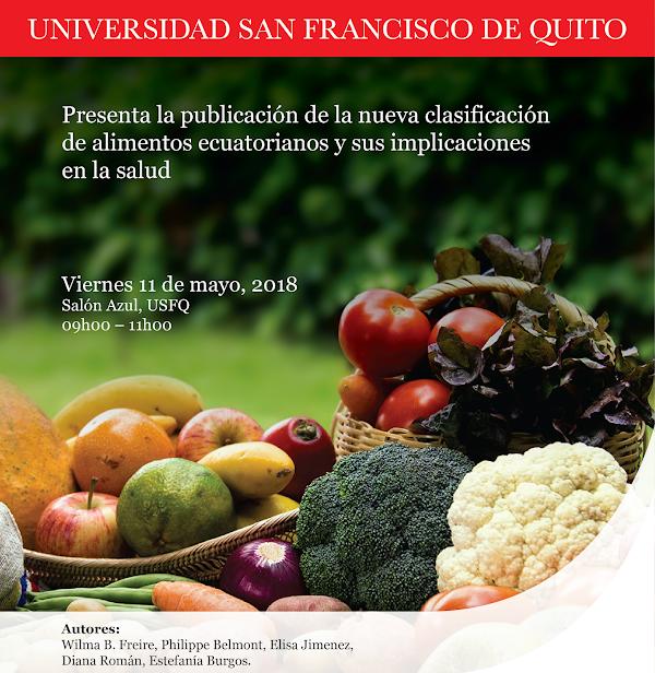 Lanzamiento de la nueva clasificación de alimentos ecuatorianos