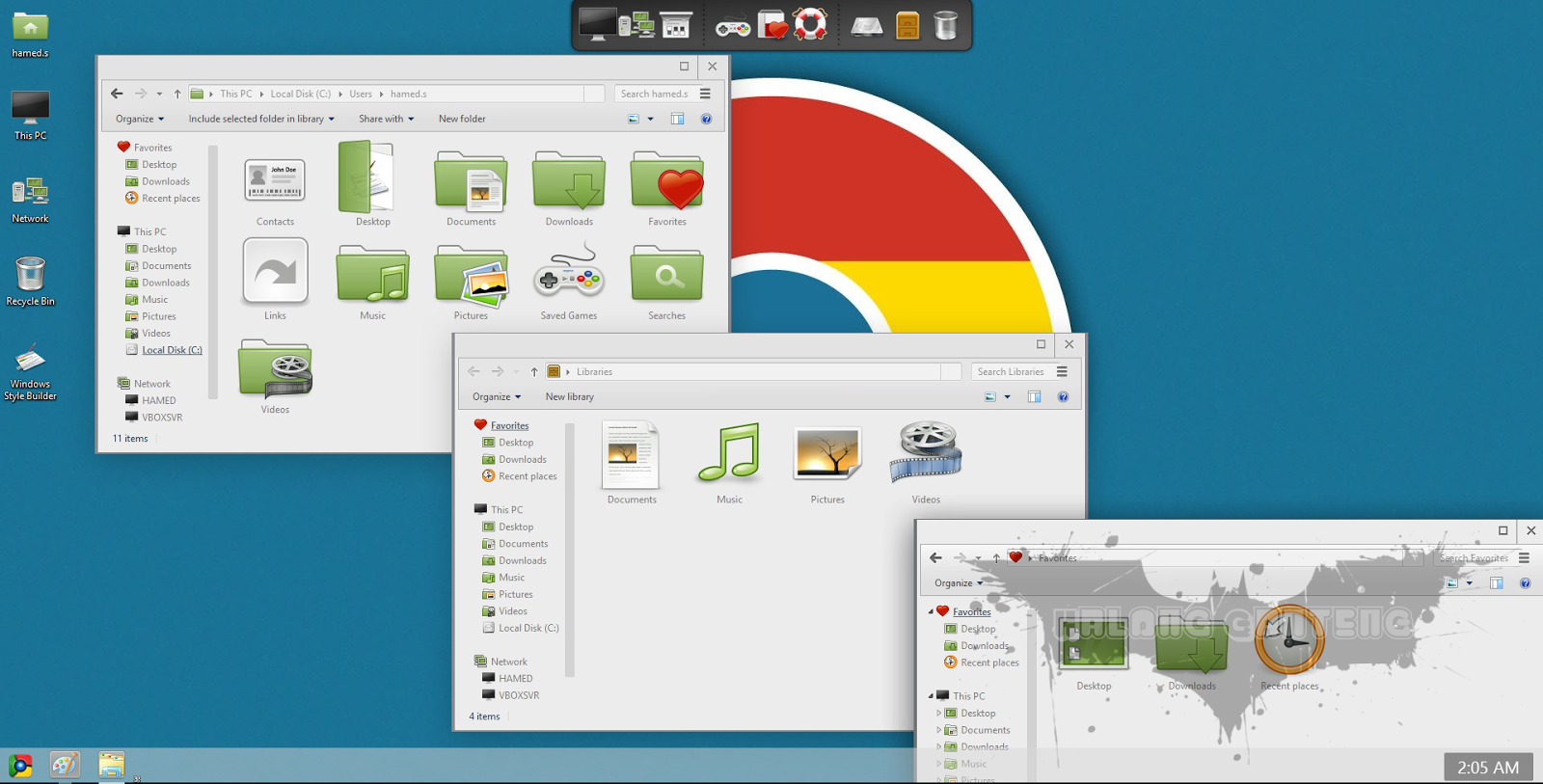 Chromium Skin Pack for win 8 Screenshot