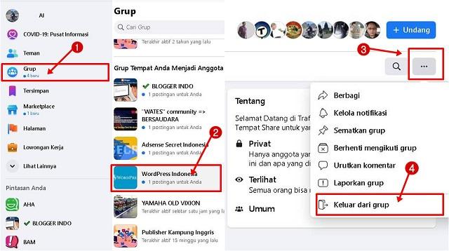 Cara Keluar Dari Grup Facebook Android