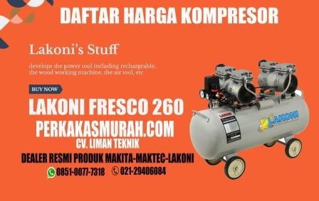 Harga-kompresor-lakoni-fresco-260-silent-tanpa-oli-oilless-dealer-distributor-Jakarta-gambar
