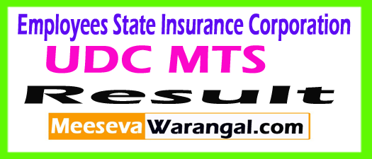 Employees State Insurance Corporation ESIC Results 2017