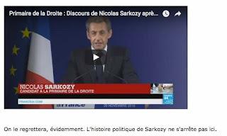 Sarkozy, défait.