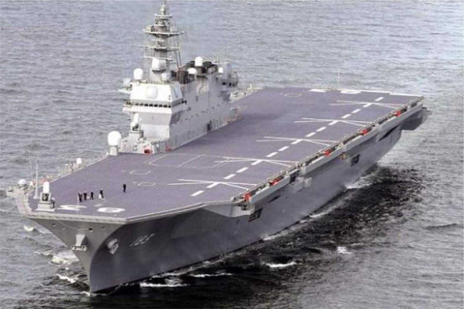 Program pertahanan baru Jepang akan mencakup pembuatan kapal induk