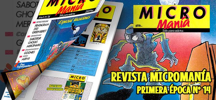 Revista Micromanía Primera época Número 14 1986