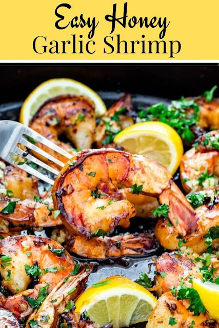 Easy Honey Garlic Shrimp #Easy #Honey #Garlic #Shrimp Seafood Recipes Healthy, Seafood Recipes For Dinner, Seafood Recipes Easy,