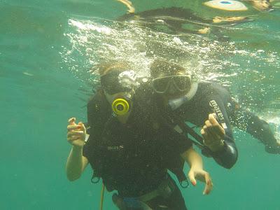 ホイアンのチャム島でスキューバーダイビング