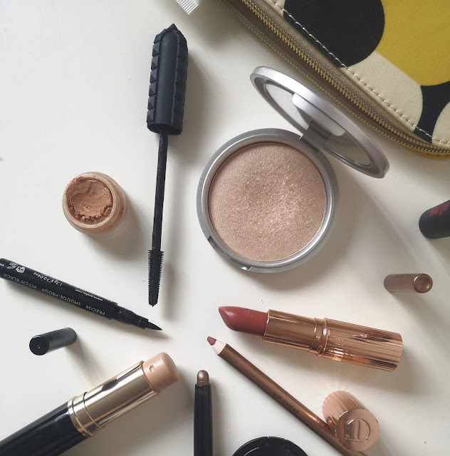 A picture of everyday makeup products for busy moms