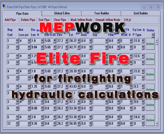 Download Elite Fire for Hydraulic Calculation- free software