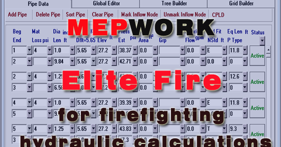 Download Elite Fire Software for Hydraulic Calculation