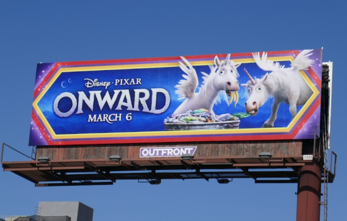 Onward movie Unicorns billboard