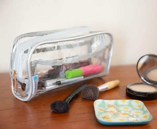 Carry makeup products in a pouch