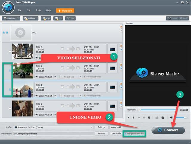 estrazione dei video da DVD