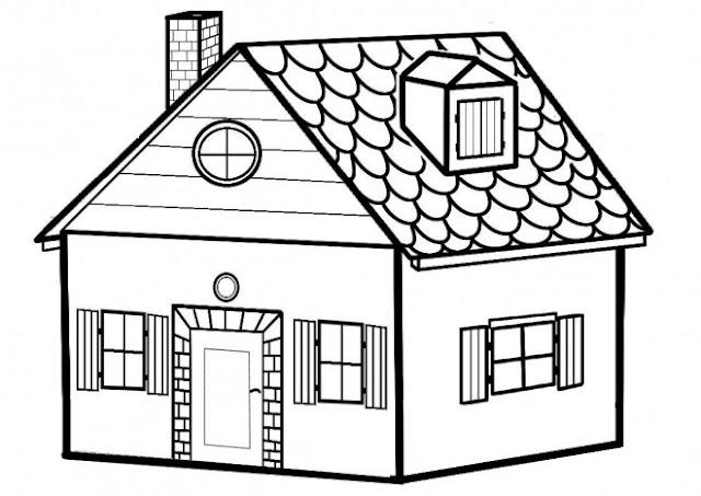 منزل للتلوين