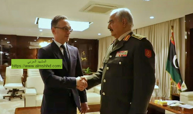 خليفة حفتر يتجة الى برلين للمشاورات ويوافق على إلتزام وقف إطلاق النار في ليبيا