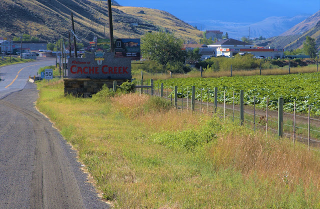 Cache Creek Welcome sign