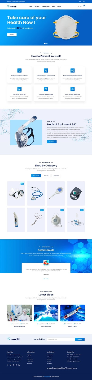 Medical Shop Shopify Template