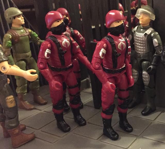 1983 Zap, Bazooka Soldier, Silver Pads Grand Slam, 2008 Crimson Cobra Trooper, Black Major