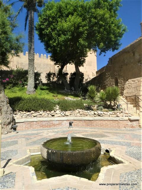 fuentes en la Alcazaba de Almería