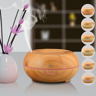 KINGA Aroma Diffuser Air Purifier Humidifier 200ML, FREE UK Delivery £22.94