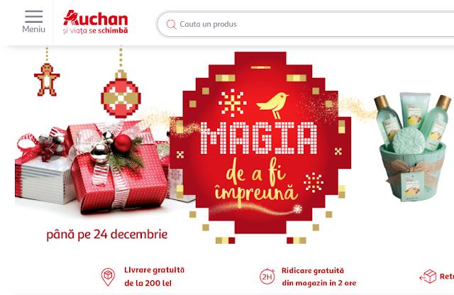 Cadouri de Craciun-Auchan-Tot ce ai nevoie direct acasă (gratis)