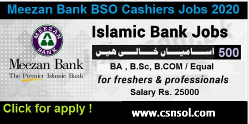 Mezzan Bank jobs 2020 Cashier Branch service office Chartered Account Financial Controller All over Pakistan-Latest Bank jobs