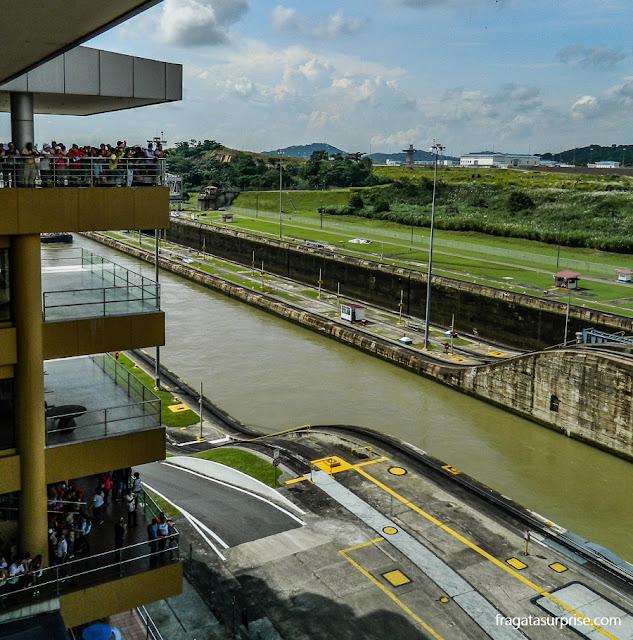 Mirantes turísticos da Eclusa de Miraflores, no Canal do Panamá