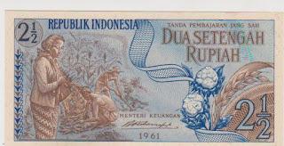 2.5 Rupiah Seri Sandang Pangan Tahun 1961