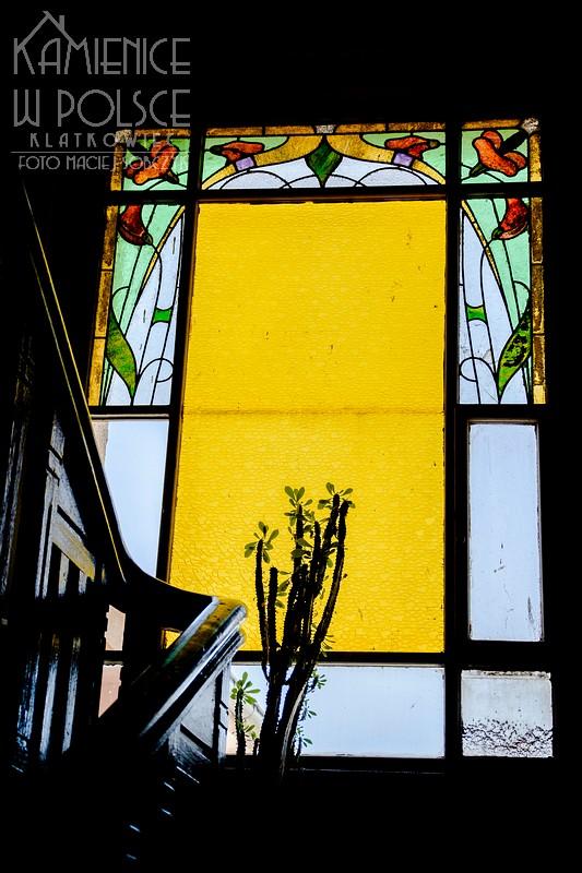 Bydgoszcz. Wnętrze. Kamienica. Klatka schodowa. Secesja. Art Nouveau. Witraż.