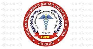 Ghulam Muhammad Mahar Medical College Sukkur, Sindh Jobs 2020