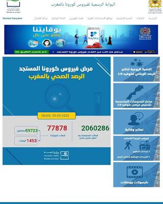 المغرب يعلن عن تسجيل 2157 إصابة جديدة مؤكدة ليرتفع العدد إلى 77878 مع تسجيل 2484 حالة شفاء و26 حالة وفاة خلال الـ24 ساعة الأخيرة✍️👇👇👇