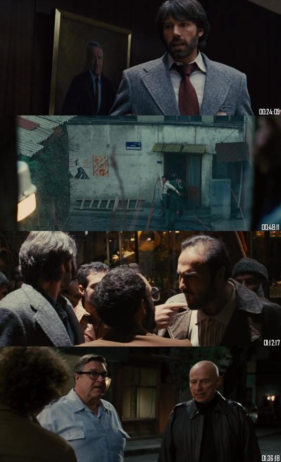 Argo 2012 BRRip 720p 480p Dual Audio Hindi English Full Movie Download