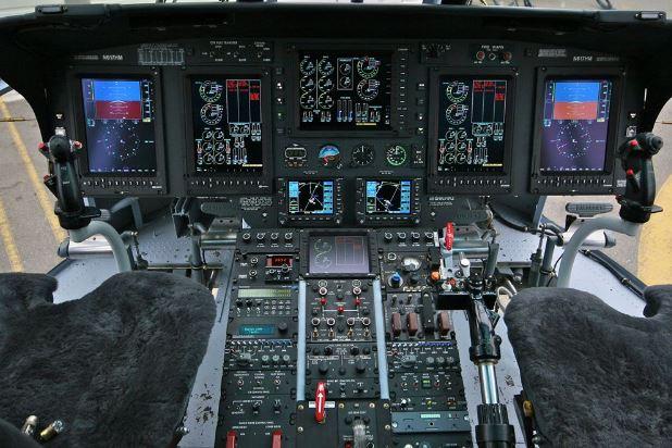 Sikorsky S-61T cockpit