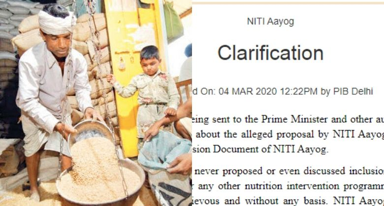 NITI Aayog Clarification on Inclusion of livestock items under PDS