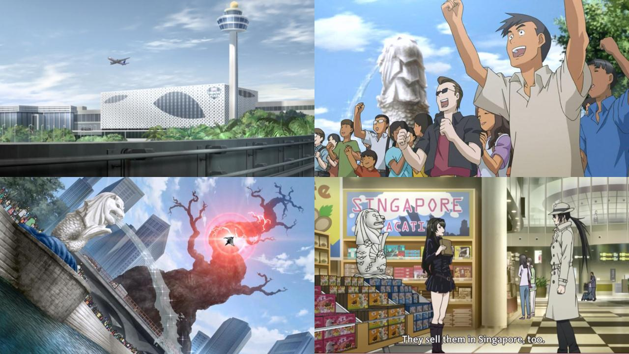 singapore city in anime