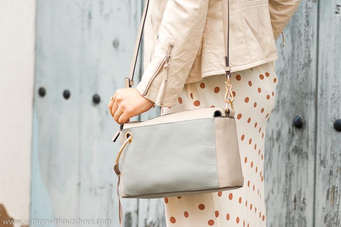 Bolso Bandolera Shoulder Bag modelo Margi color Peapod de Vince Camuto