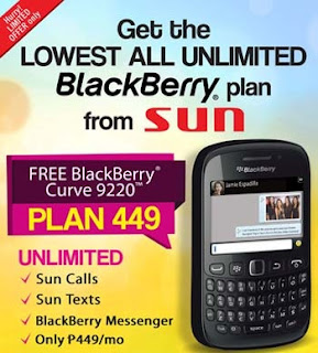 Sun BlackBerry Plan 449