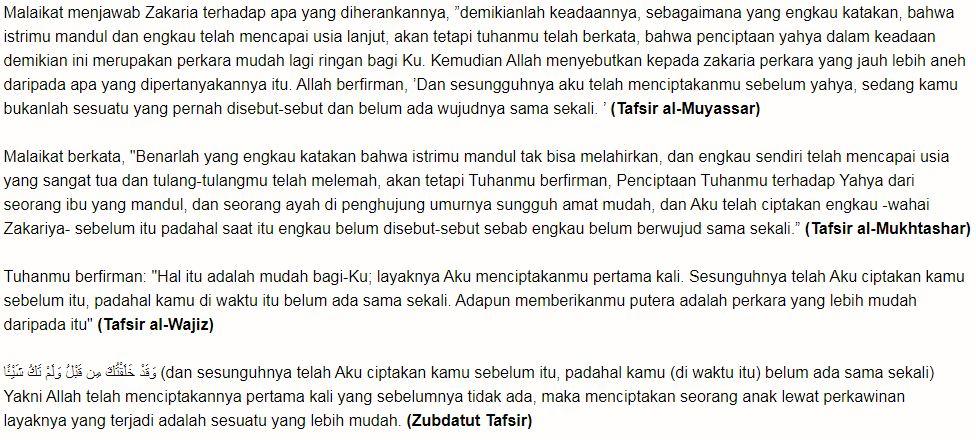 Surat Maryam 1-11 Doa Mujarab Untuk Program Agar Cepat Hamil