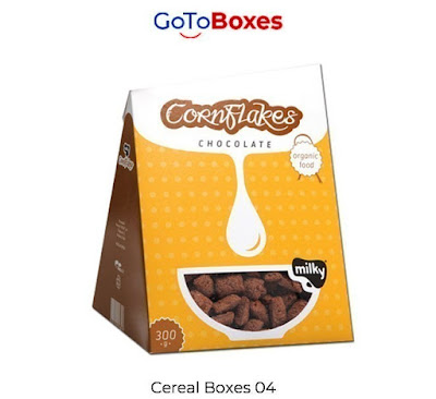 GotoBoxes is making high-quality cereal packaging boxes that are sturdy and gives protection to your product. We all know without packaging a product is nothing because if it will safely reach a retail shop or superstore it gives you profit and benefit.