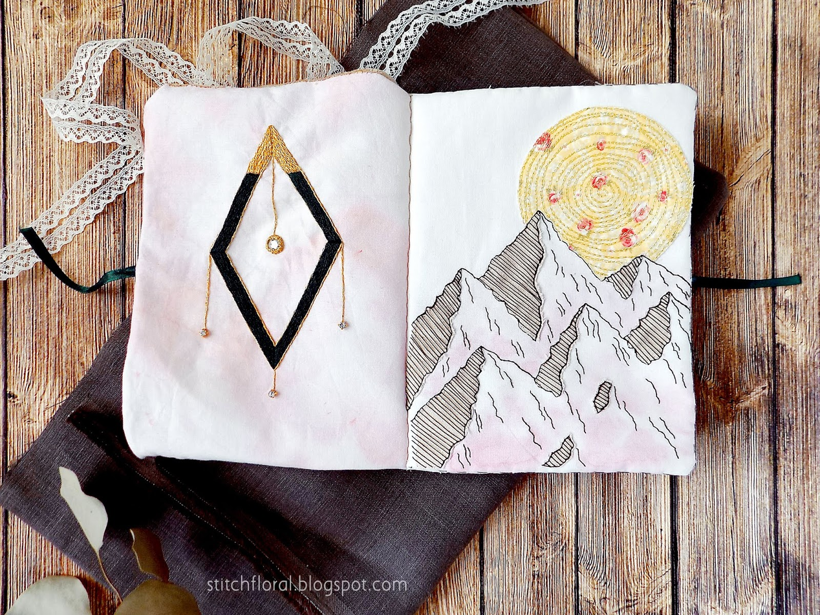 embroidery geometry, embroidery mountains