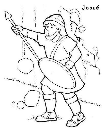 cantinho do evangelismo infantil josuÉ desenhos para colorir