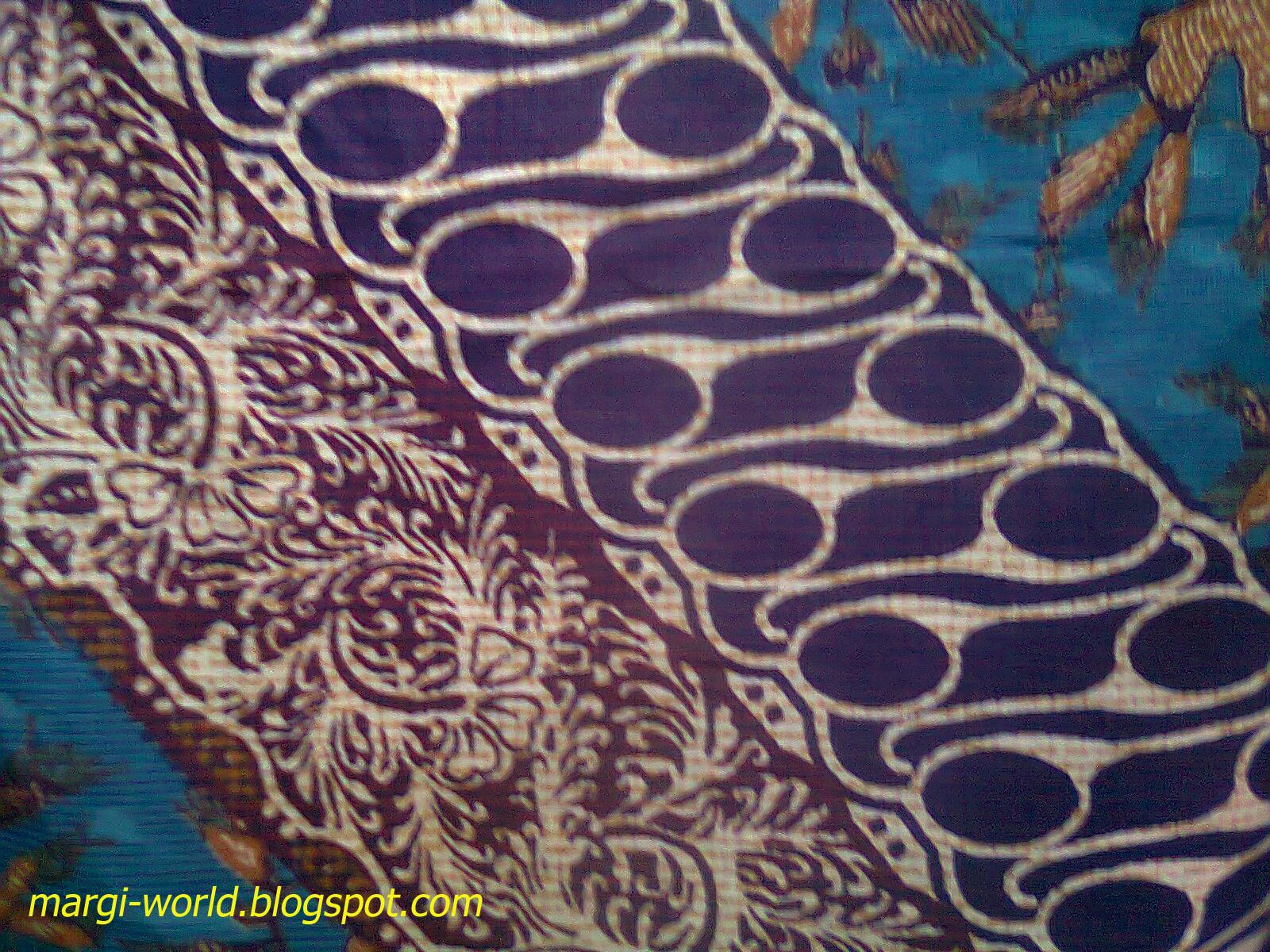Contoh desain batik tradisional dengan konsep bulatan