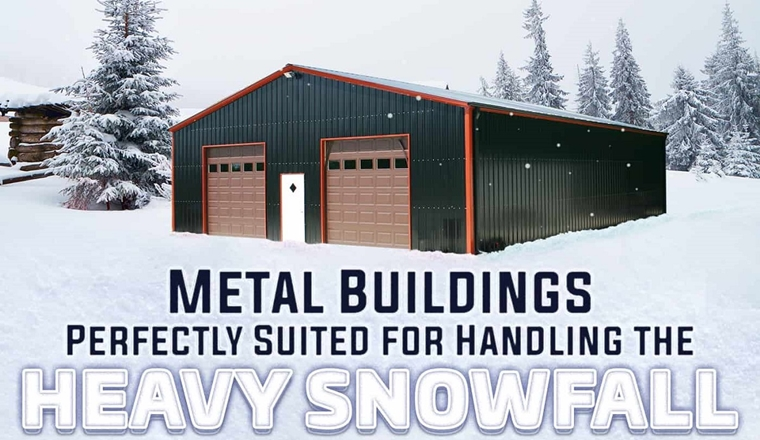Metal Buildings - Perfectly Suited for Handling the Heavy Snowfall #infographic