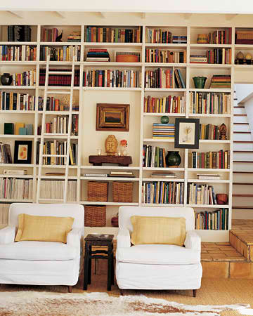 APARTMENT INTERVENTION: Floor To Ceiling Bookshelves