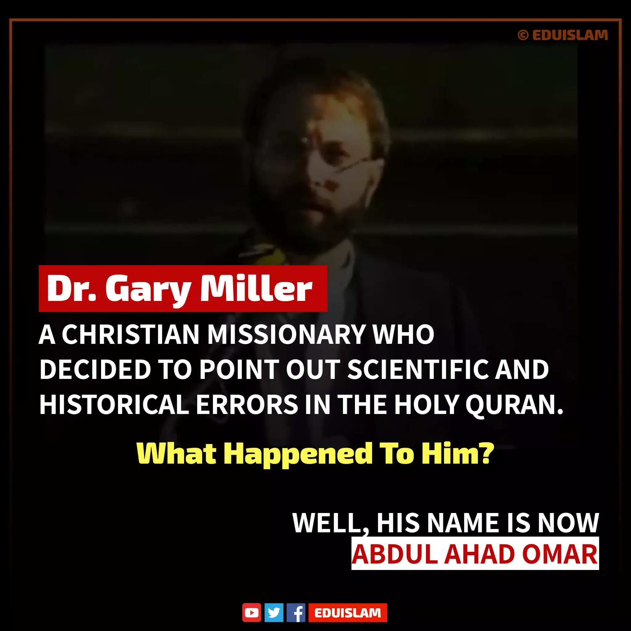 Dr Gary Miller conversion to Islam