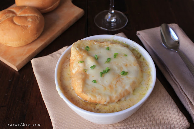 My Easy and Delicious French Onion Soup is comforting, and slightly rich from the wine, and that gooey cheese topping? Hands down my favorite part.
