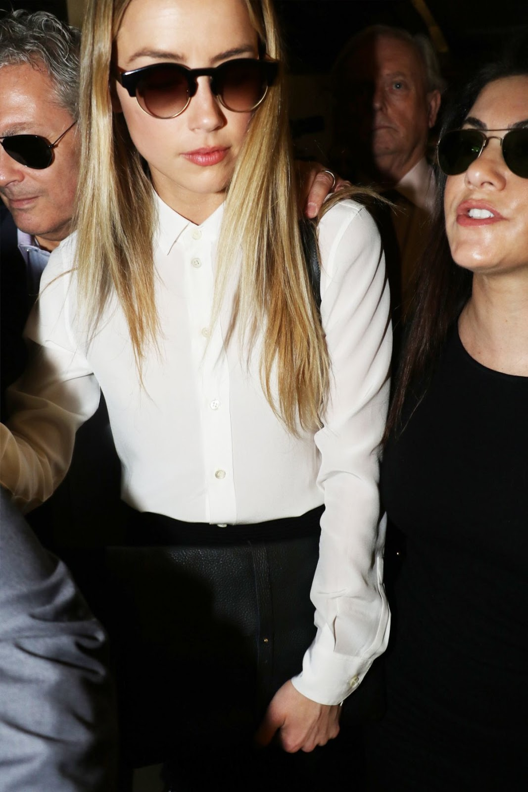 Amber Heard looking hot At Court In Los Angeles