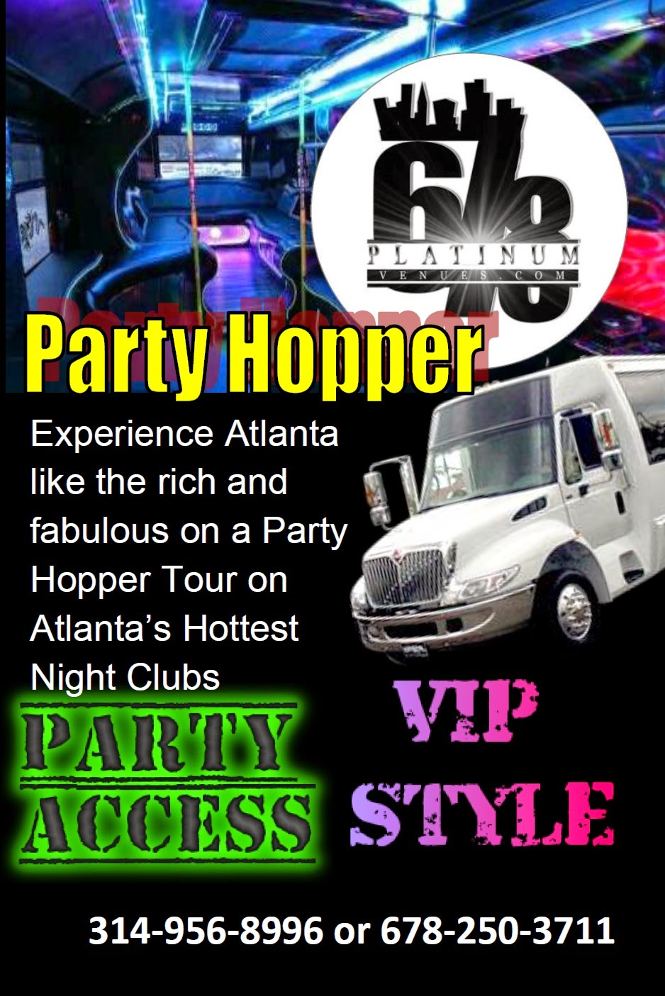 "BOARD THE RICH AND FAMOUS ""PARTYBUS STRIP CLUB HOPPER"" PACKAGES HERE"