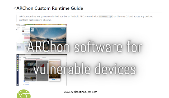 ARChon software for vulnerable devices
